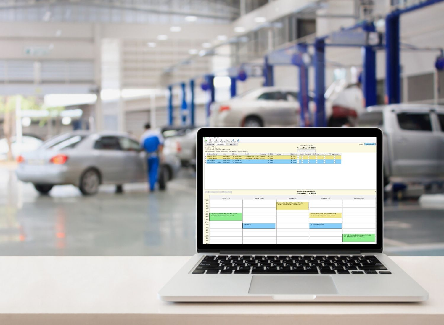 Automotive appointment scheduling software